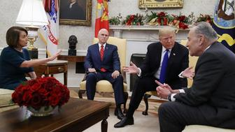 Trump, Pelosi and Schumer were scheduled to meet at the White House to reach an agreement on border funding to avert a potential government shutdown. No agreement was made.