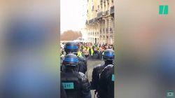 Les images de la pagaille à Montmartre après la mobilisation inattendue des gilets jaunes
