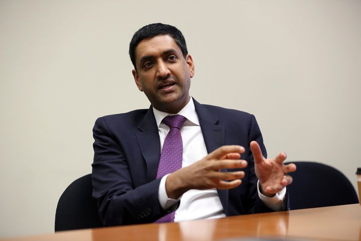 Rep. Ro Khanna (D-Calif.) is interviewed in Los Angeles on Jan. 26, 2018.