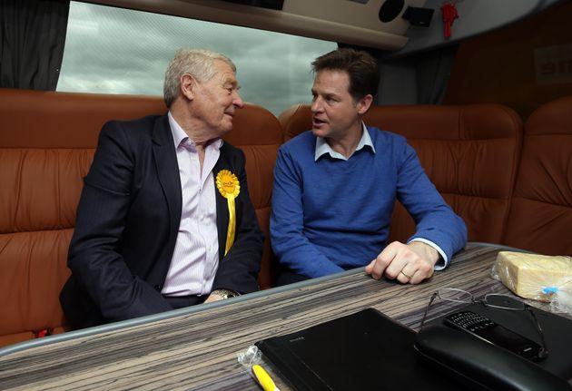 Paddy Ashdown with ex-Lib Dem leader Nick