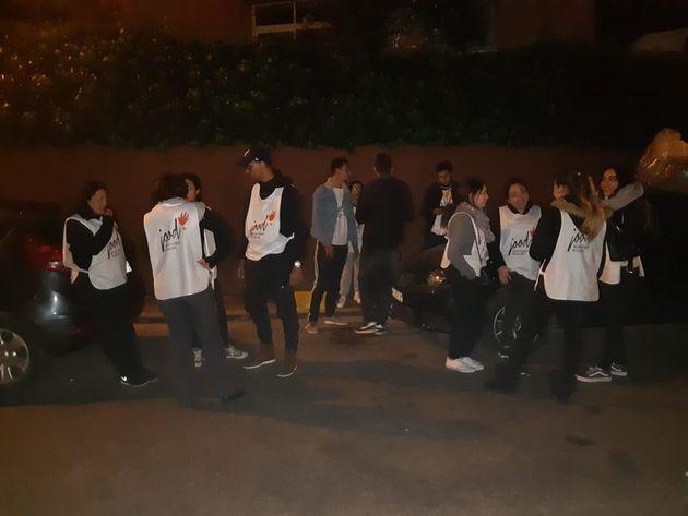 À 22h30, tous les bénévoles maraudeurs se retrouvent dans la villa où Jood...