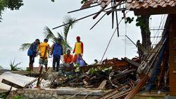 Les images du tsunami en Indonésie et de ses