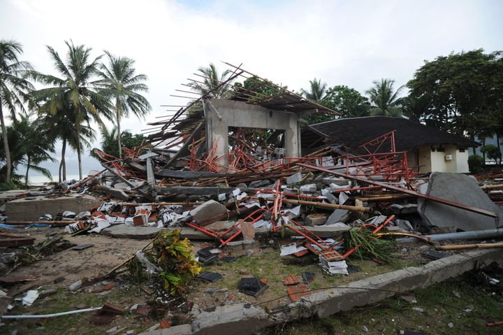 The death toll from Sunday's tsunami neared 300 today.