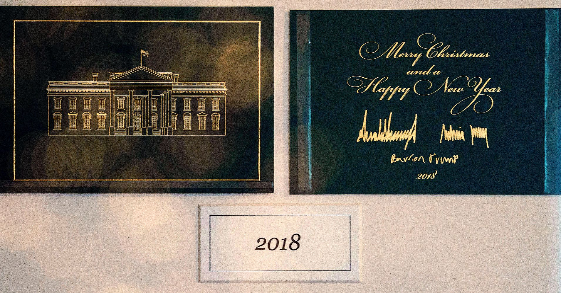 Late Night Takes A Peek At Trump S Personal Christmas Cards Huffpost
