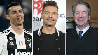 Sexual misconduct allegations didn't stand in the way of Cristiano Ronaldo, Ryan Seacrest and Brett Kavanaugh's careers. Images from Getty/AP.