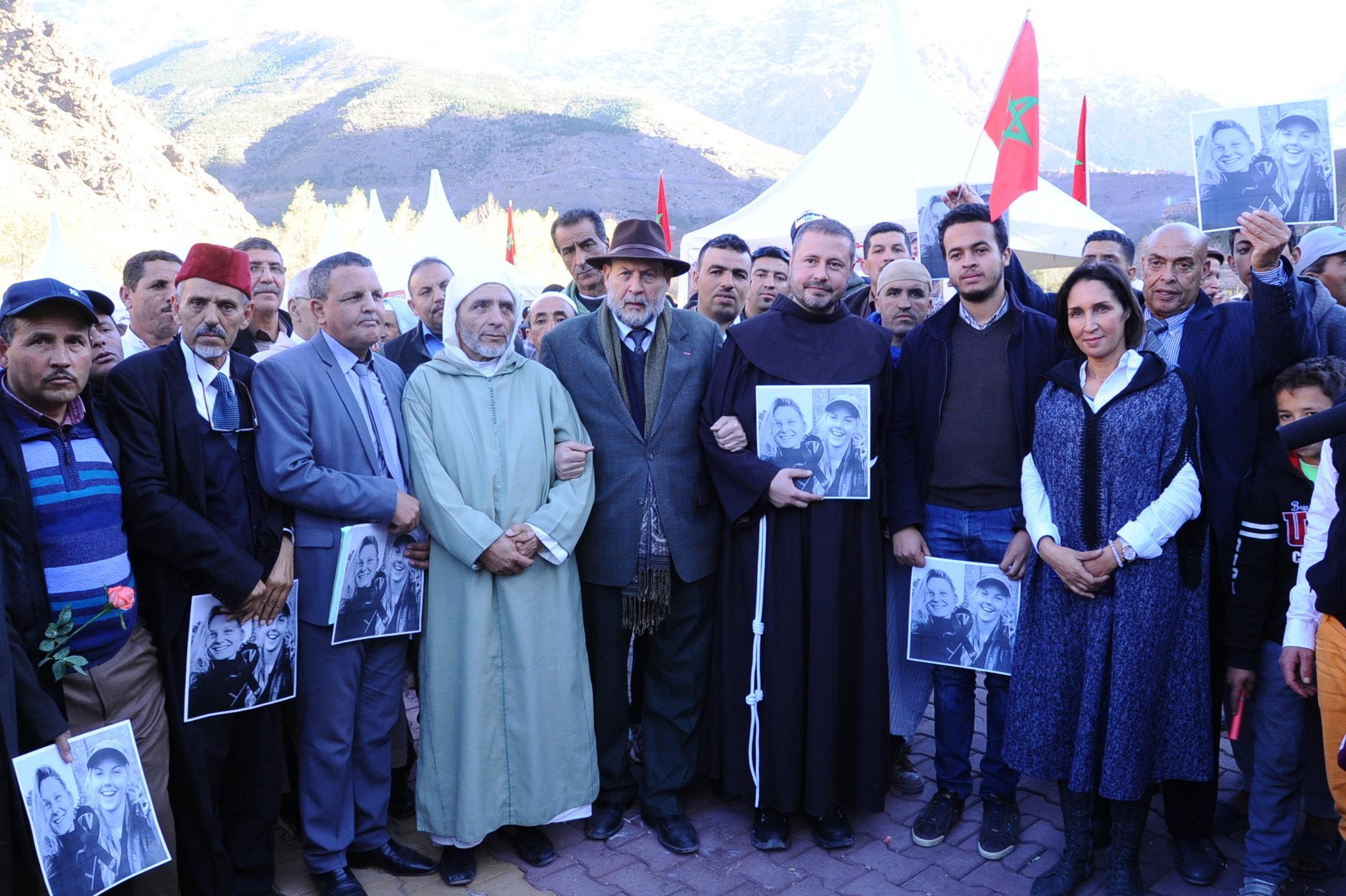 Imlil: Des représentants des trois religions réunis à Imlil pour condamner la barbarie