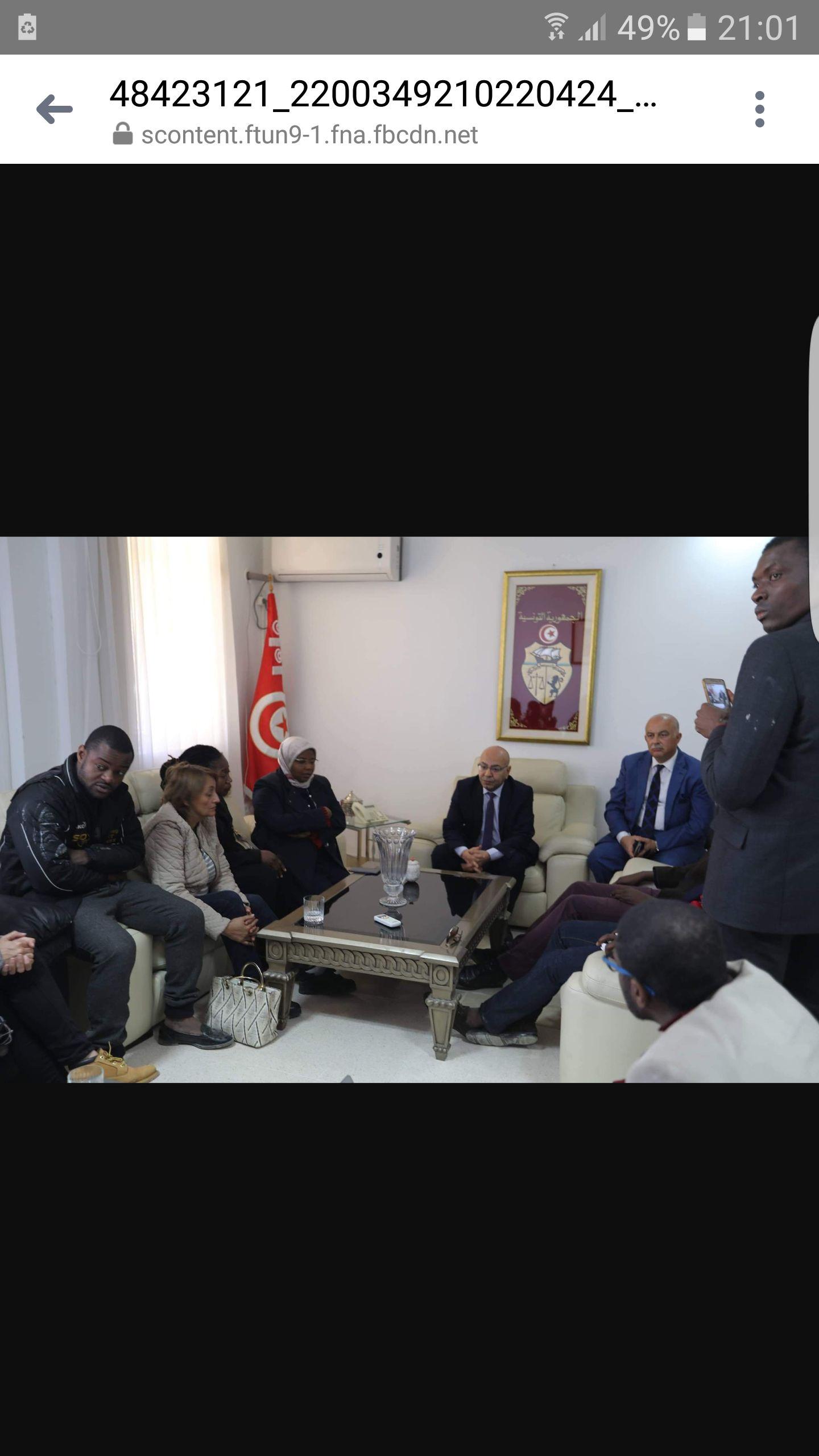 Le ministre chargé des Droits de l'Homme reçoit la famille de Falikou