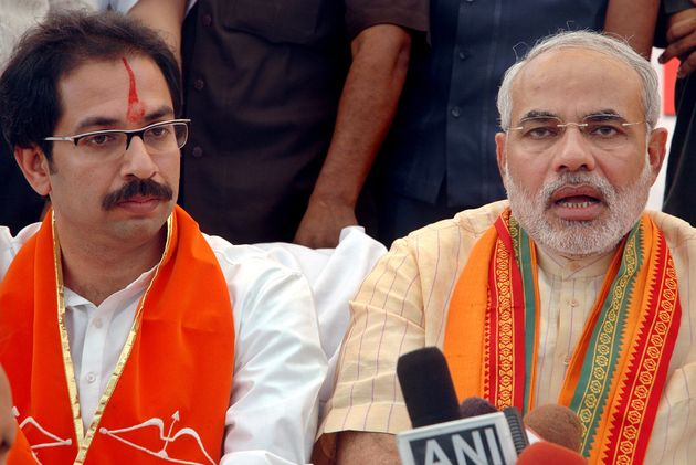 Shiv Sena chief Uddhav Thackeray with Prime Minister Modi in a file