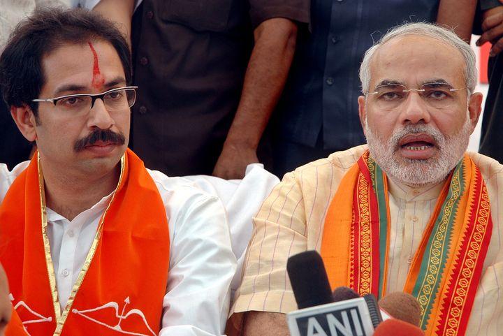 Shiv Sena chief Uddhav Thackeray with Prime Minister Modi in a file photo