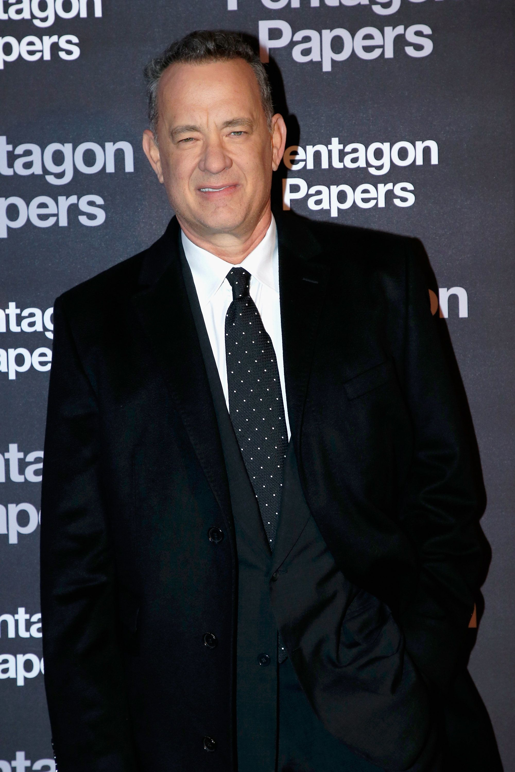 PARIS, FRANCE - JANUARY 13:  American Actor Tom Hanks attends the 'Pentagon Papers' Paris Premiere at Cinema UGC Normandie on January 13, 2018 in Paris, France.  (Photo by Bertrand Rindoff Petroff/Getty Images)