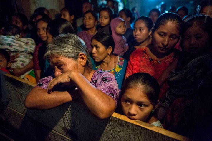Elvira Choc grieves as she attends a memorial service Monday for her 7-year-old granddaughter, Jakelin Caal Maquin, in San An
