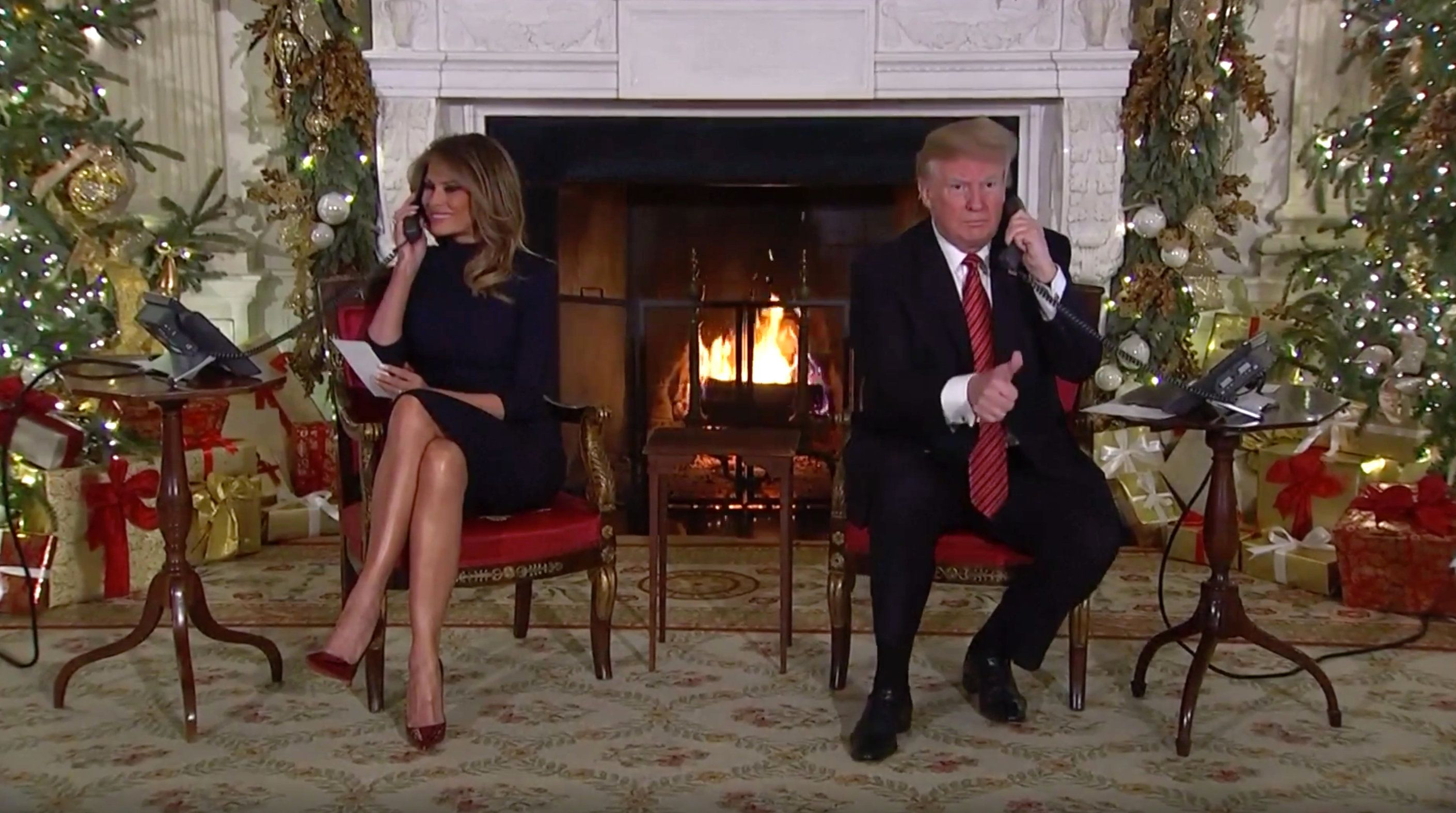 """Are you a still a believer in Santa? Because at 7, it's marginal, right?"" the president said."