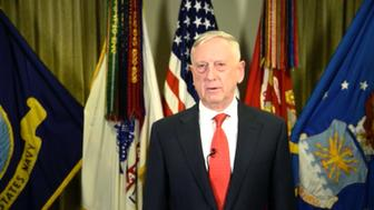 One day before turning in his resignation, Defense Secretary Jim Mattis recorded a holiday message to troops.
