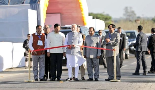 PM Modi Inaugurates India's Longest Rail-Road Bridge In
