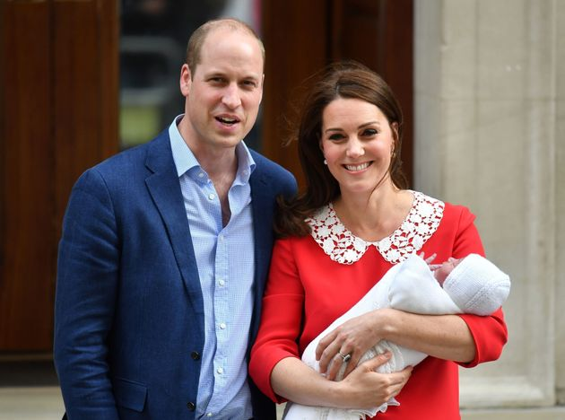 The Duke and Duchess of Cambridge leaving hospital with new addition Prince