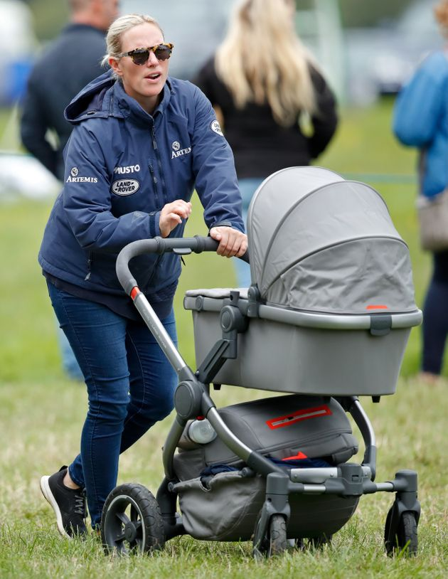 Zara Tindall with new baby