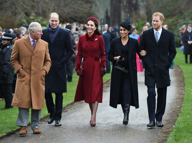Prince Charles, Prince William, the Duchess of Cambridge, the Duchess of Sussex and Prince