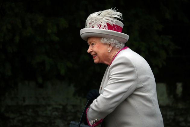 The Queen was all smiles as she arrived at the