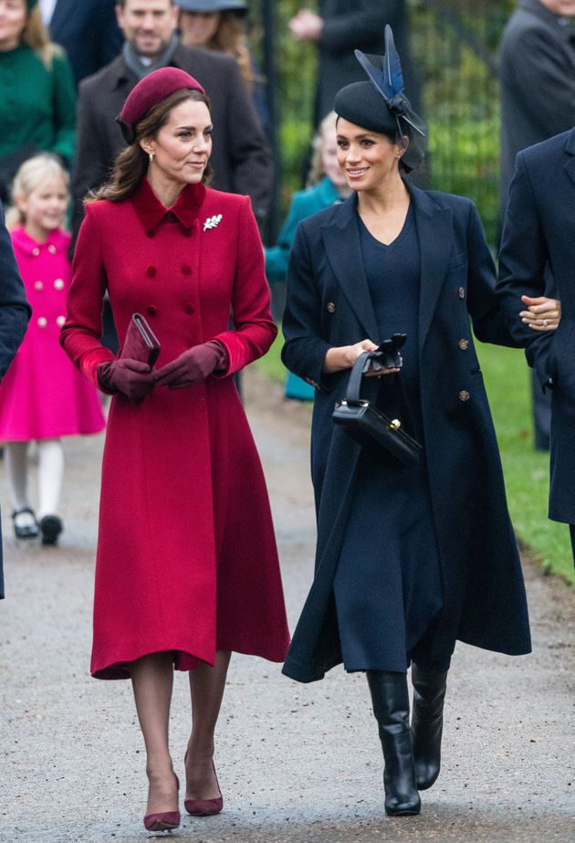 Kate Middleton and Meghan Markle wore strikingly different looks to the church