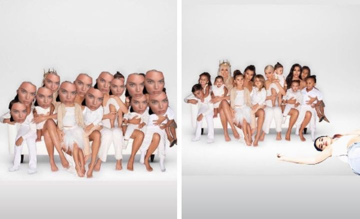 The Kendall-riffic additions to the Kardashian Christmas card.