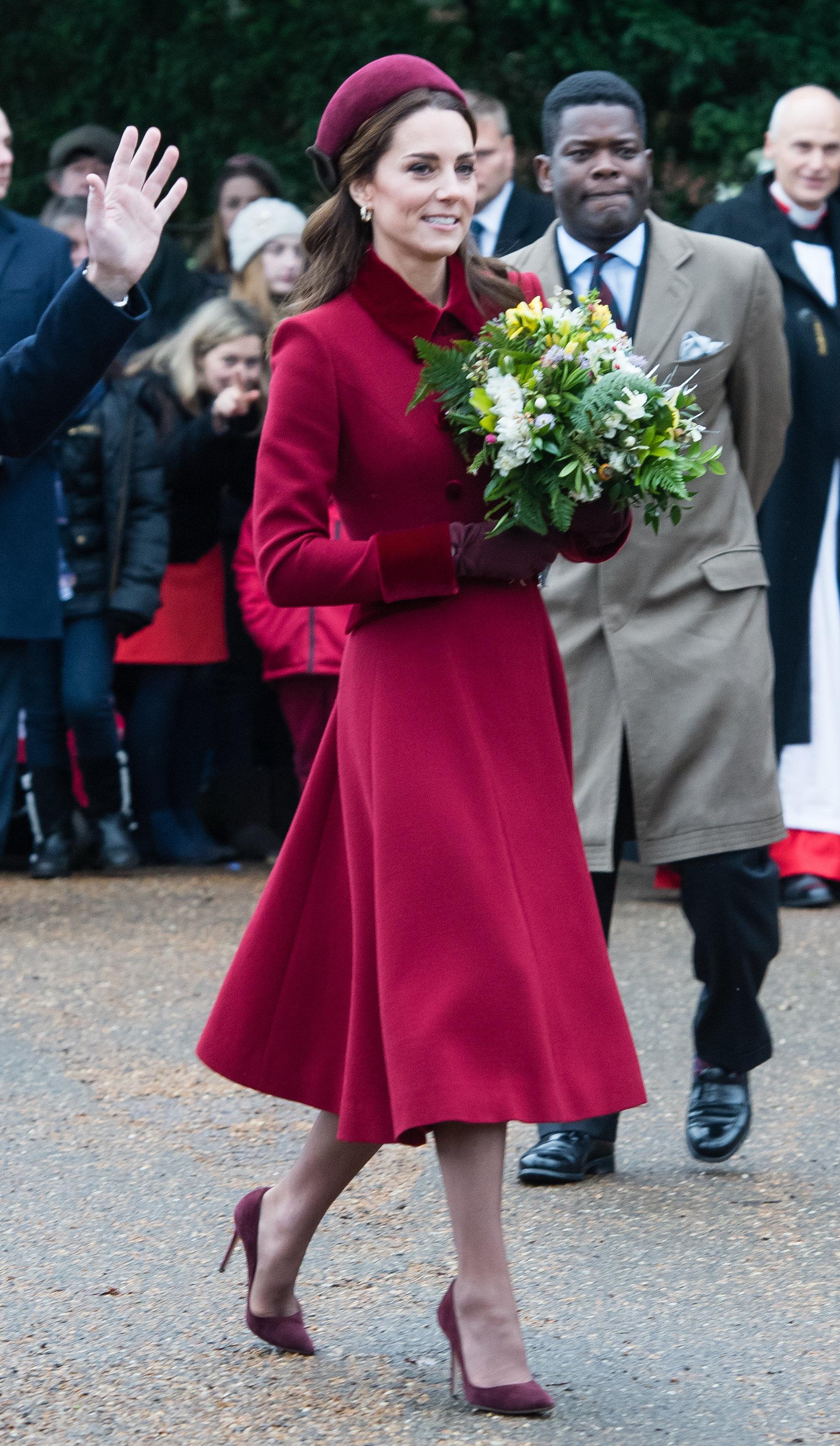 Kate vor dem Gottesdienst.