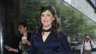 NEW YORK, NY August 09: Mayim Bialik seen at Good Day New York promoting her new book Boying Up: How to be Brave, Bold and Brilliant on August 09, 2018 in New York City. Credit: RW/MediaPunch /IPX