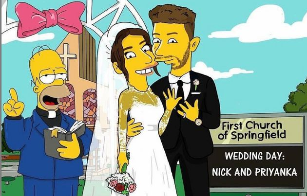 Priyanka Chopra-Nick Jonas' Wedding Pictures Get 'The Simpsons'