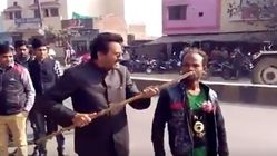 BJP Worker Assaults A Differently Abled Man Who Said He Will Vote For Akhilesh