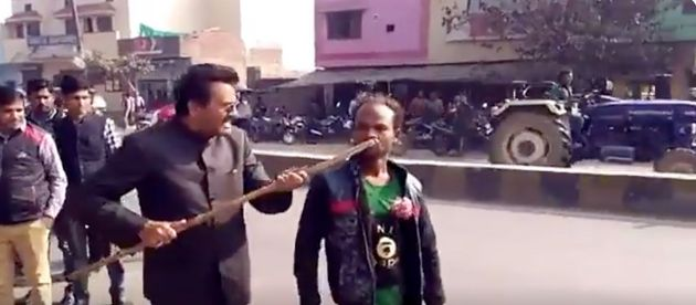 BJP Leader Assaults Differently Abled Man Who Spoke Against Modi And
