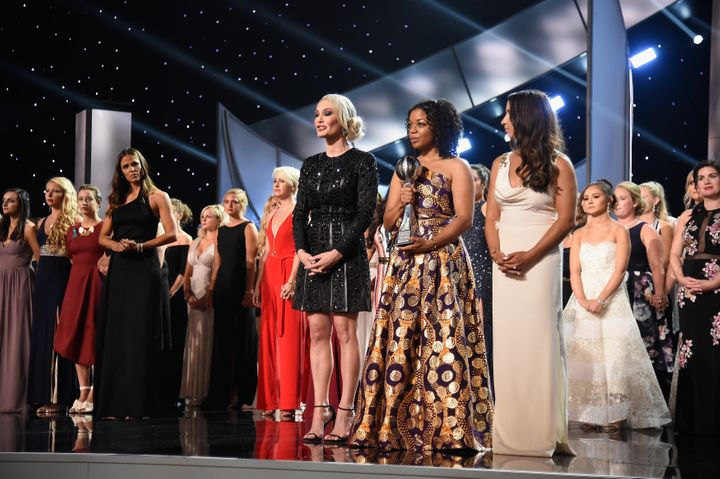 The survivors of Larry Nassar's abuse received the Arthur Ashe Courage Award at the 2018 ESPYS.