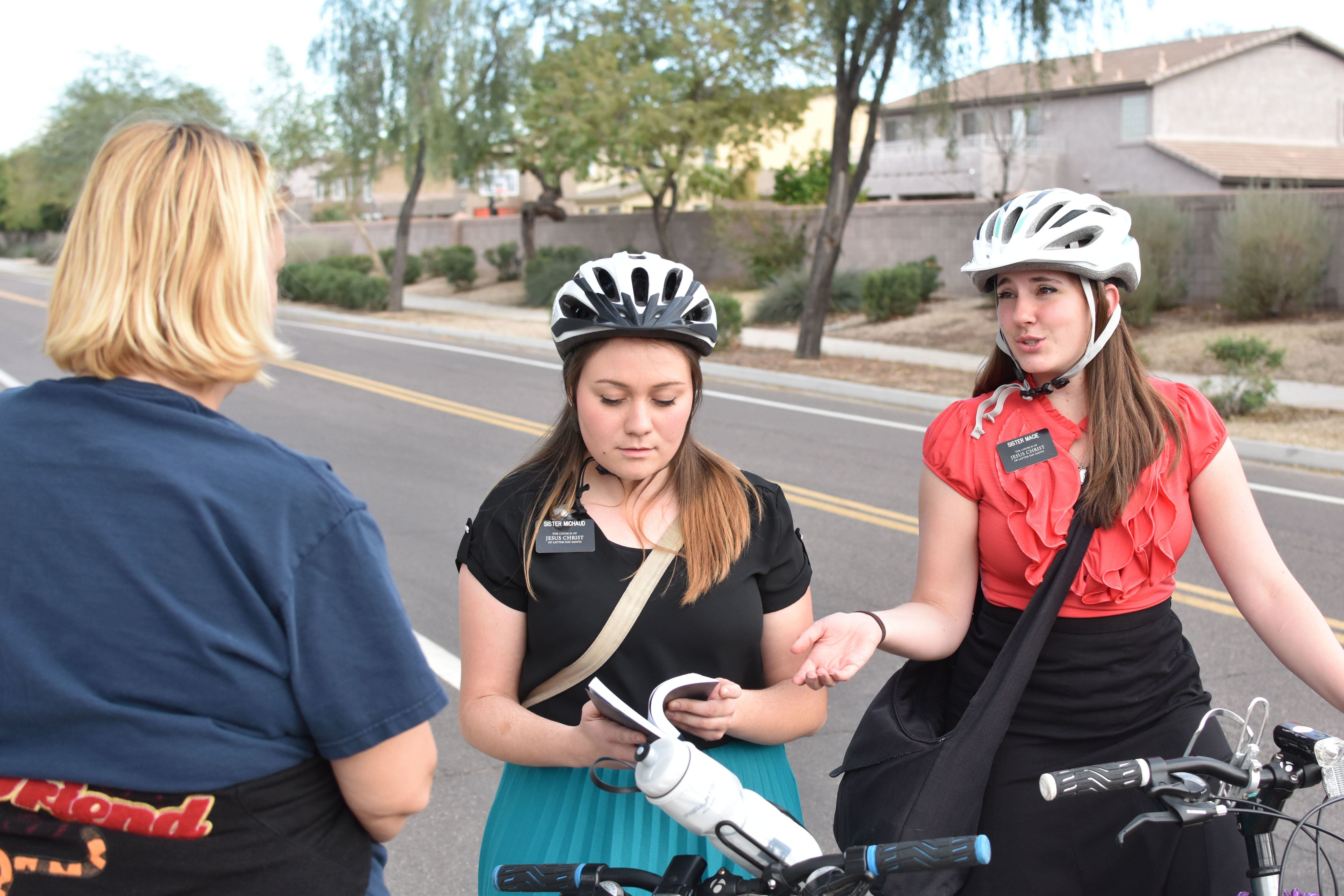 In some regions of the world, sister missionaries rely on bicycles to get around.