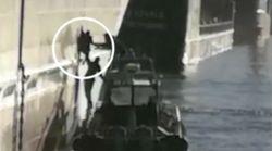 La police espagnole vient en aide à un jeune migrant marocain, caché dans la coque d'un