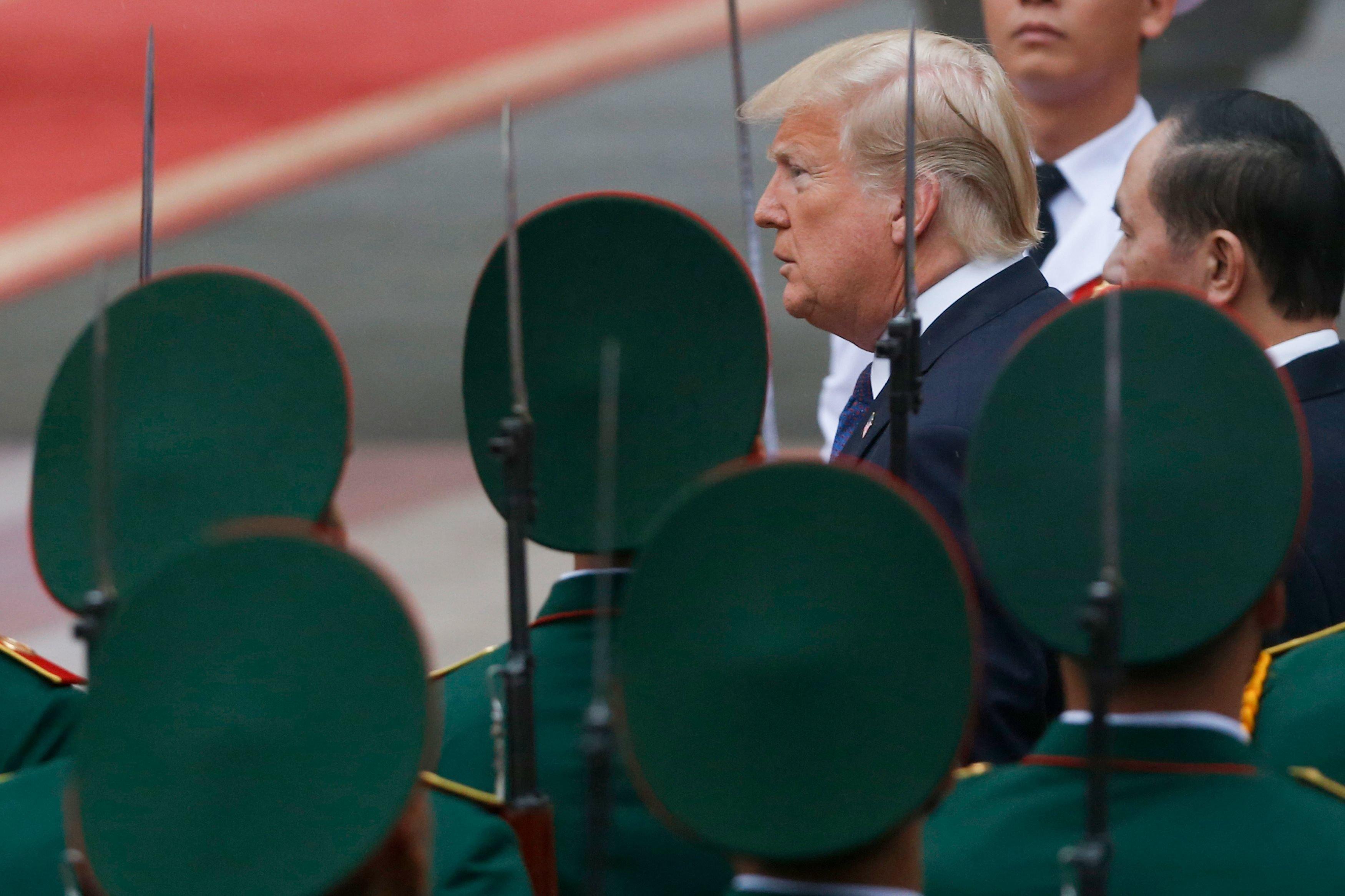 Donald Trump bei seinem Amtsbesuch in Vietnam im vergangenen Jahr.