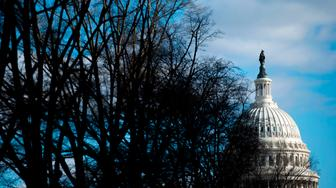 The US Capitol is seen in Washington, DC, on December 22, 2018, as the government continues in a partial shutdown. - The partial US government shutdown is set to stretch on through Christmas as the Senate adjourned with no deal to end it in sight. (Photo by Andrew CABALLERO-REYNOLDS / AFP)        (Photo credit should read ANDREW CABALLERO-REYNOLDS/AFP/Getty Images)