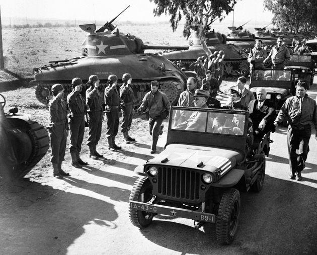 Quand Roosevelt rendait visite aux troupes américaines au