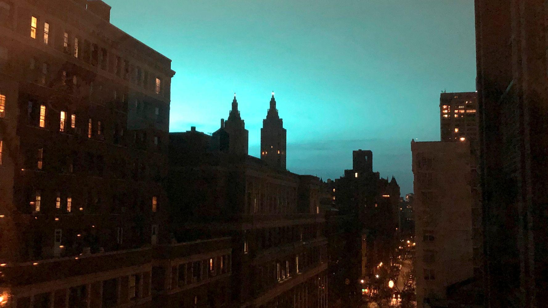 Blue Light Illuminates Sky In Queens As Electrical Arc Rocks
