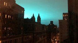 Blue Light Illuminates Sky In Queens As Explosion Rocks Con Edison Power
