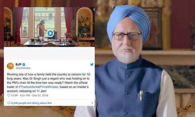 Twitter Has A Field Day Trolling BJP's Cheeky Tweet Promoting 'The Accidental Prime