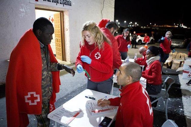 La Croix Rouge est venue assister l'arrivée de certains