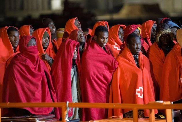 139 migrants ont été sauvés par le Salvamento Marítimo espagnol durant la...
