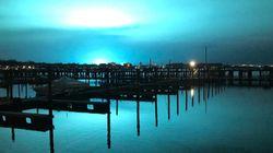 Απόκοσμες όσο και μαγευτικές εικόνες από τη Νέα Υόρκη όπου ο ουρανός ξαφνικά έγινε μπλε