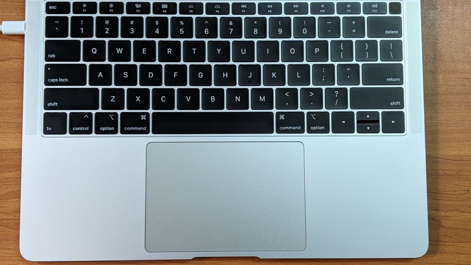 The new MacBook Air has a larger trackpad, but the keys are now