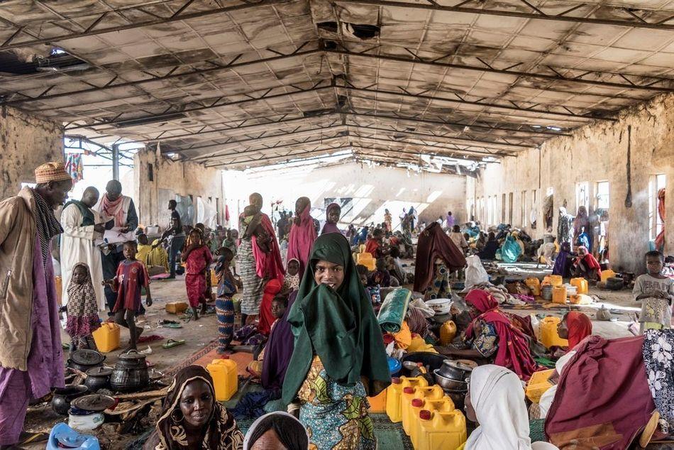 Καταυλισμός εσωτερικά εκτοπισμένων στο Μονγκούνο. (Ιανουάριος 2018)