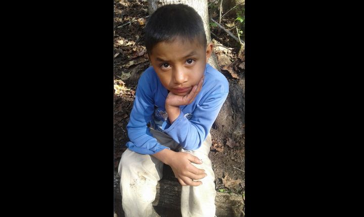 This Dec, 12, 2018, photo provided by Catarina Gomez on Dec. 27, 2018, shows her half-brother Felipe Gomez Alonzo, 8, near he