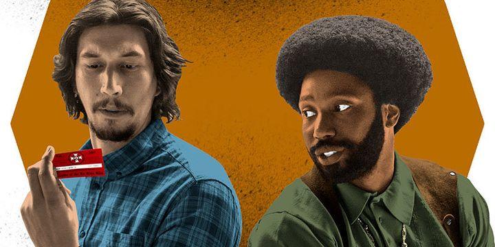 "Adam Driver (left) and John David Washington star in ""BlacKkKlansman."""