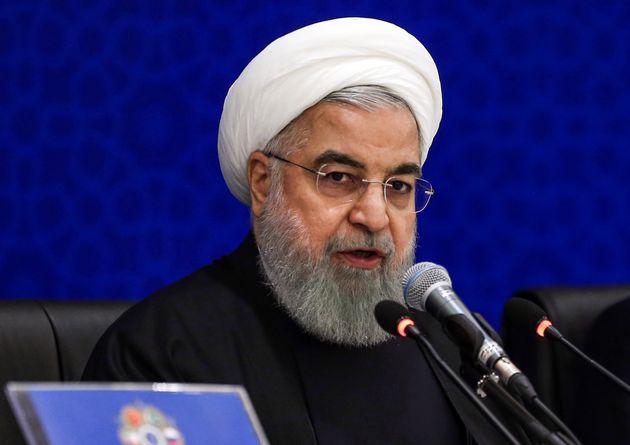 Le président Hassan Rohani lors d'une conférence régionale, début décembre...