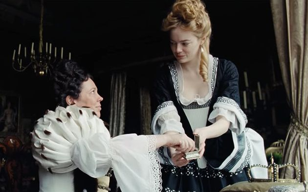 Olivia and Emma play lovers in 'The