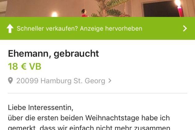Αγανακτισμένη σύζυγος πουλά τον άνδρα της στο eBay για 18