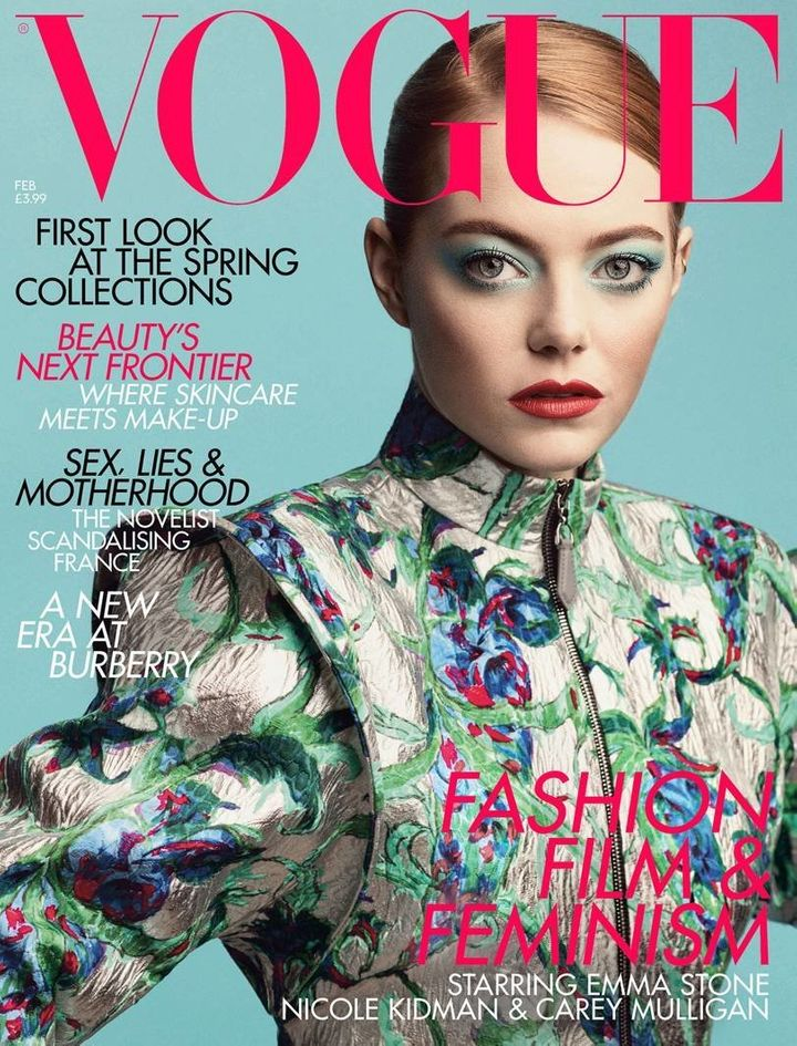 Emma Stone is the February cover star of British Vogue.