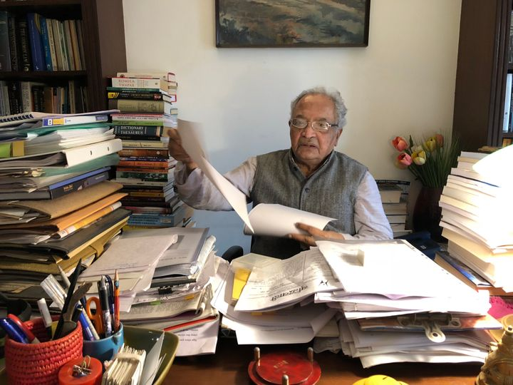 Justice P.B. Sawant at his home in Pune